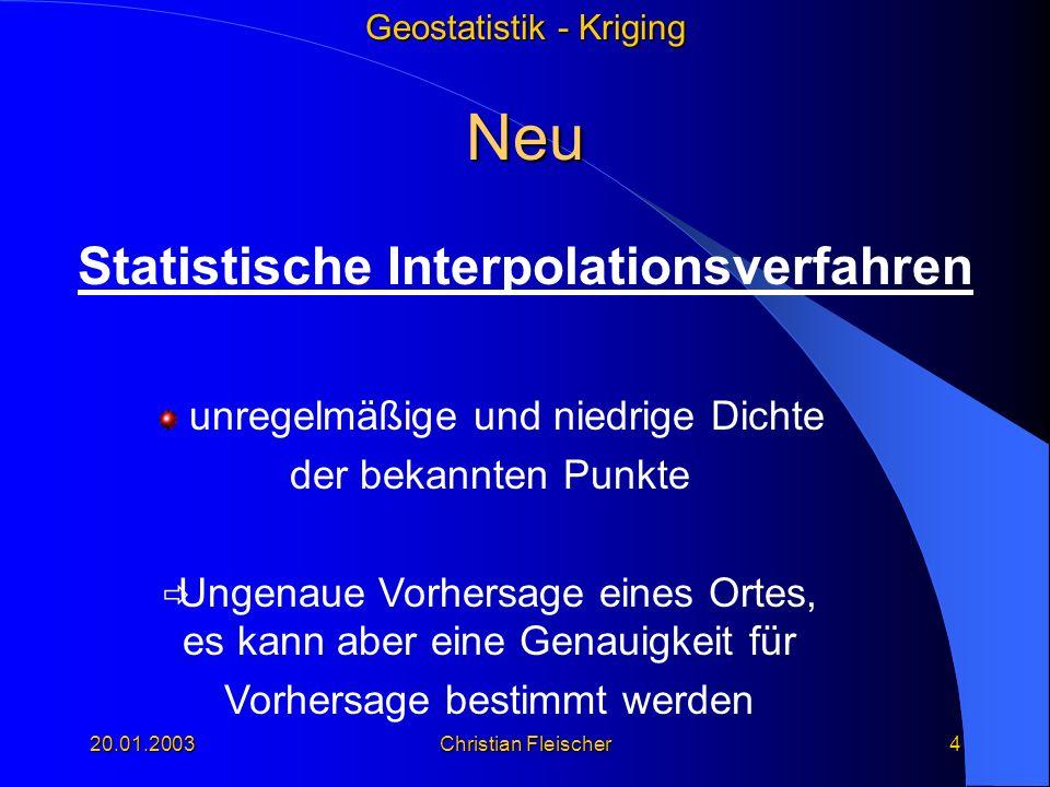 Statistische Interpolationsverfahren