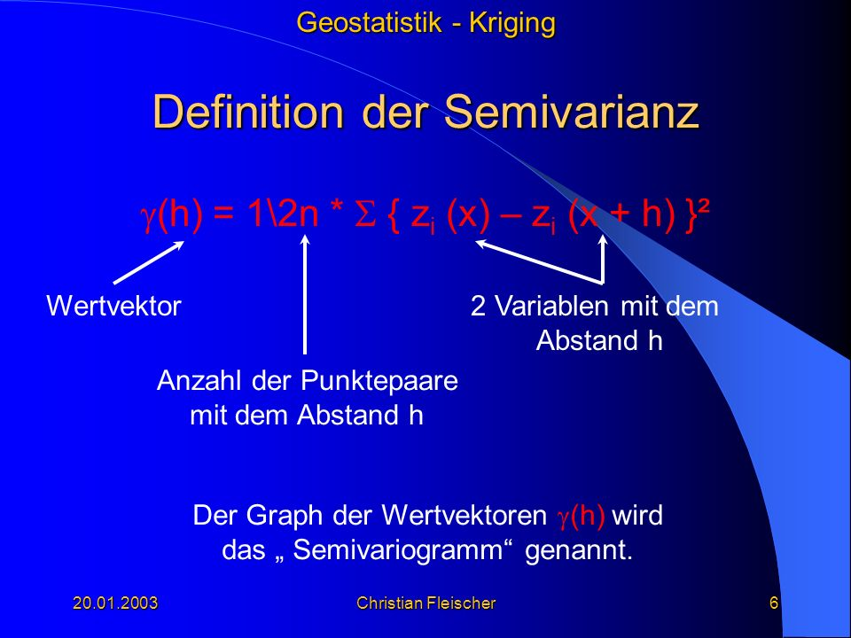 Definition der Semivarianz