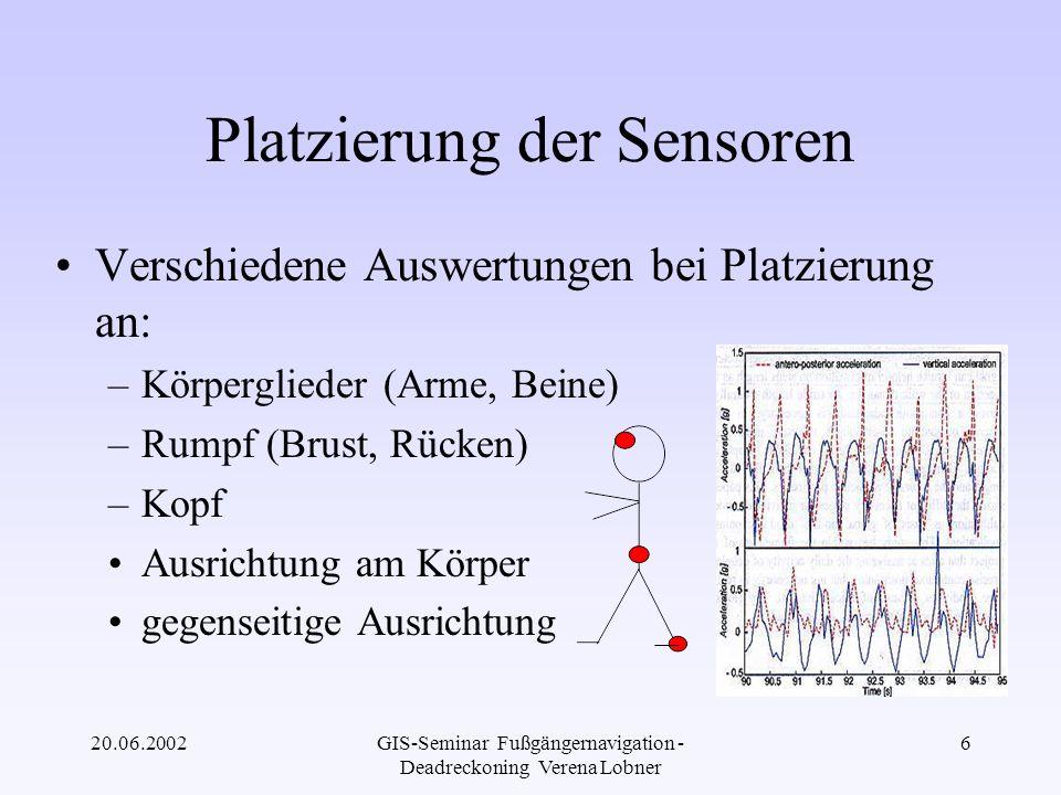 Platzierung der Sensoren