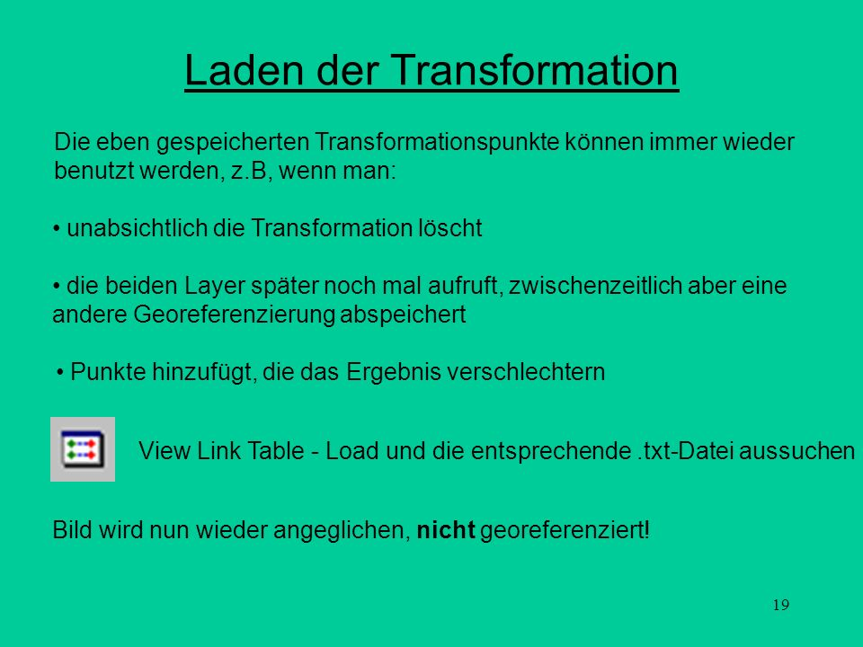 Laden der Transformation