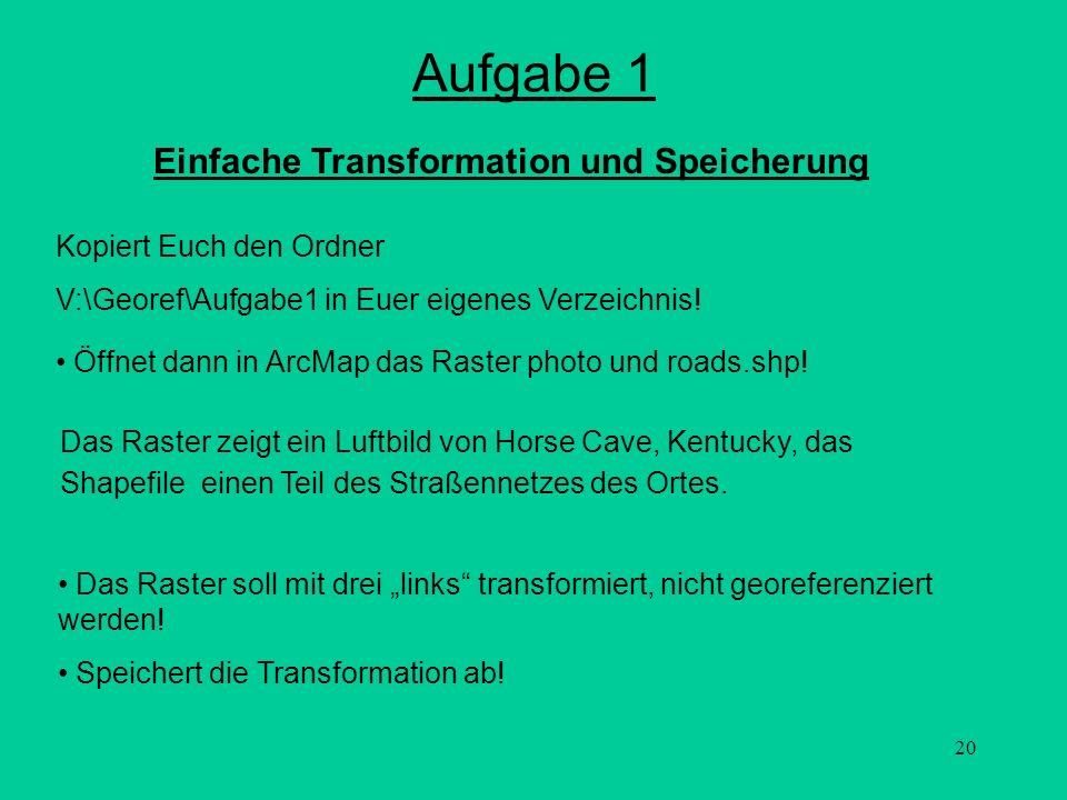 Aufgabe 1 Einfache Transformation und Speicherung
