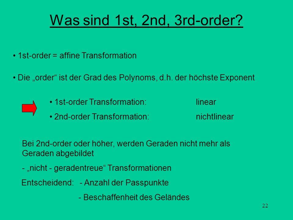 Was sind 1st, 2nd, 3rd-order 1st-order = affine Transformation