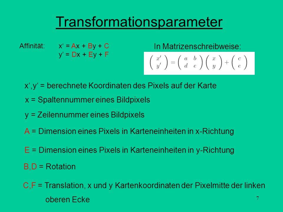 Transformationsparameter