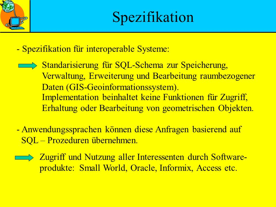 Spezifikation - Spezifikation für interoperable Systeme: