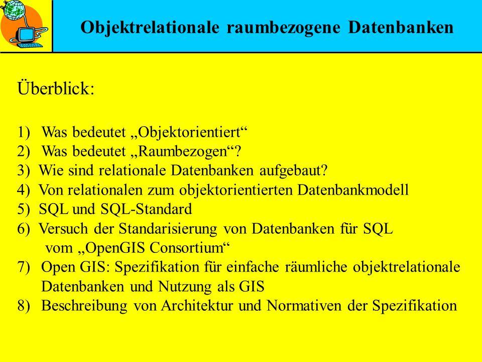 Objektrelationale raumbezogene Datenbanken