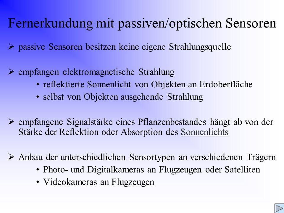 Fernerkundung mit passiven/optischen Sensoren