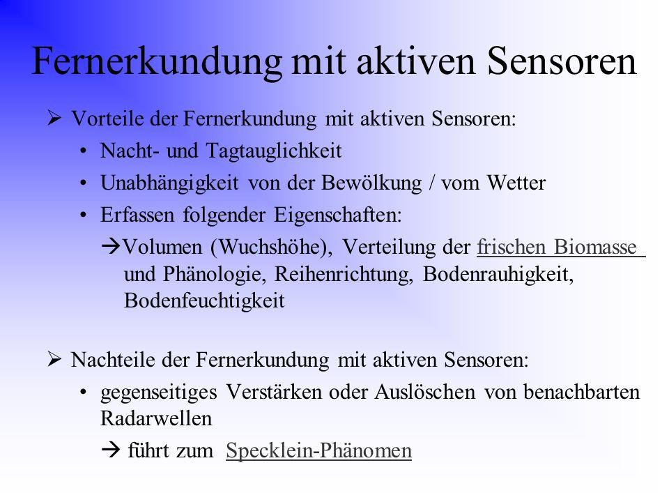 Fernerkundung mit aktiven Sensoren