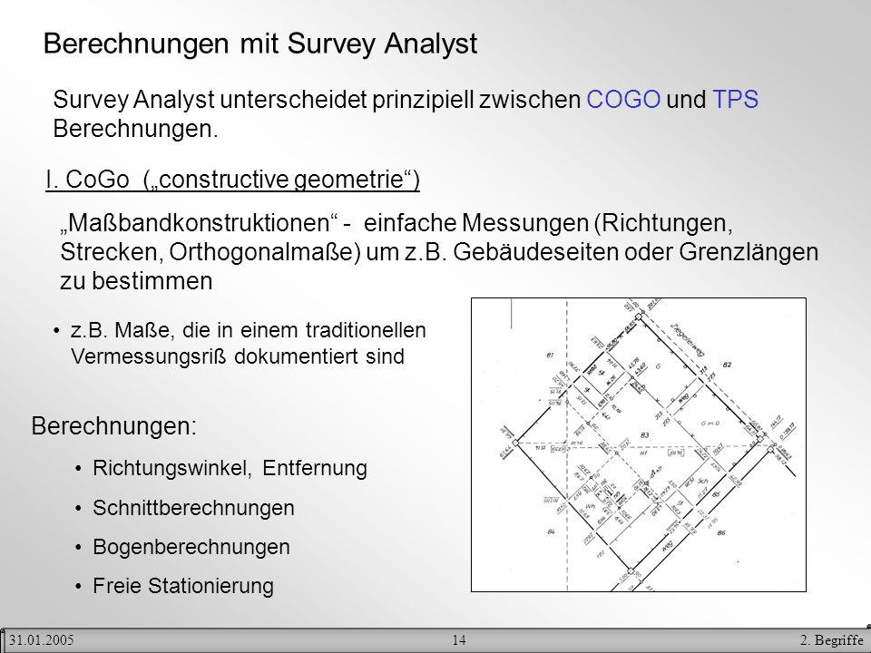 Berechnungen mit Survey Analyst
