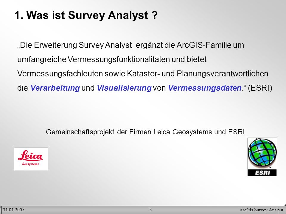 1. Was ist Survey Analyst