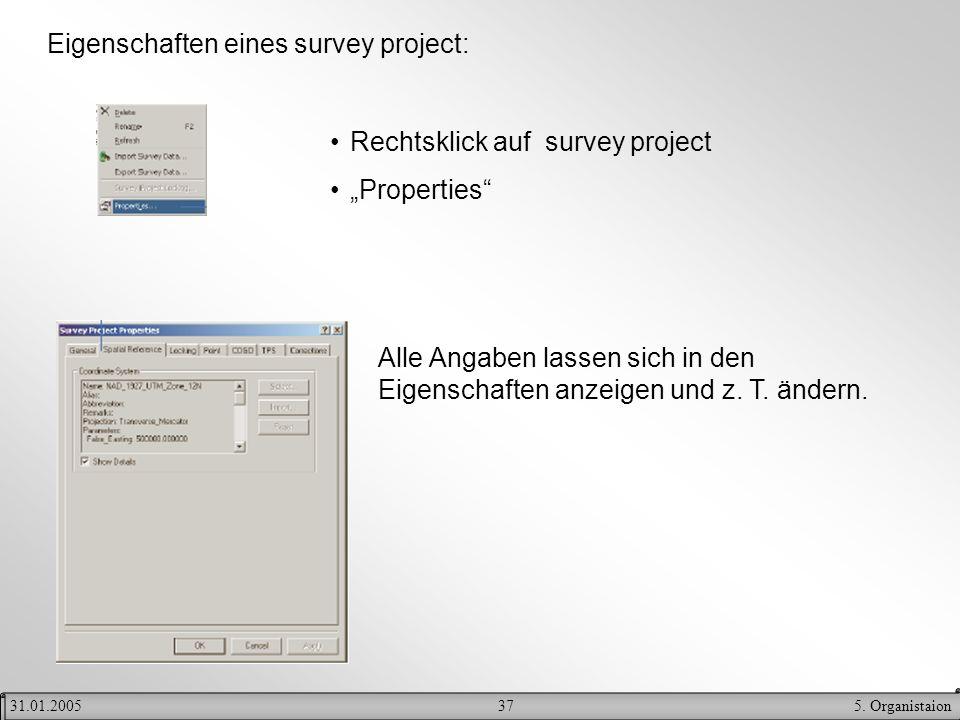 Eigenschaften eines survey project:
