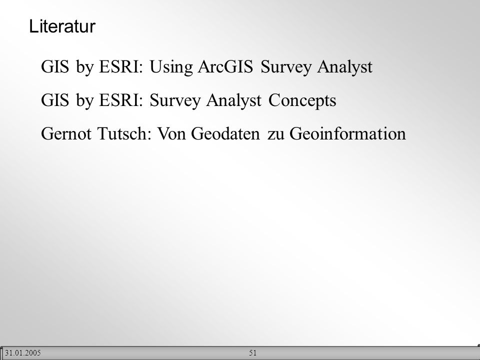 GIS by ESRI: Using ArcGIS Survey Analyst