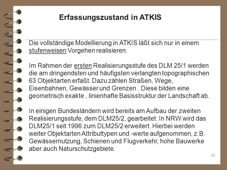 Erfassungszustand in ATKIS