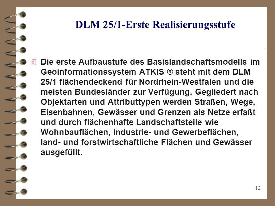DLM 25/1-Erste Realisierungsstufe