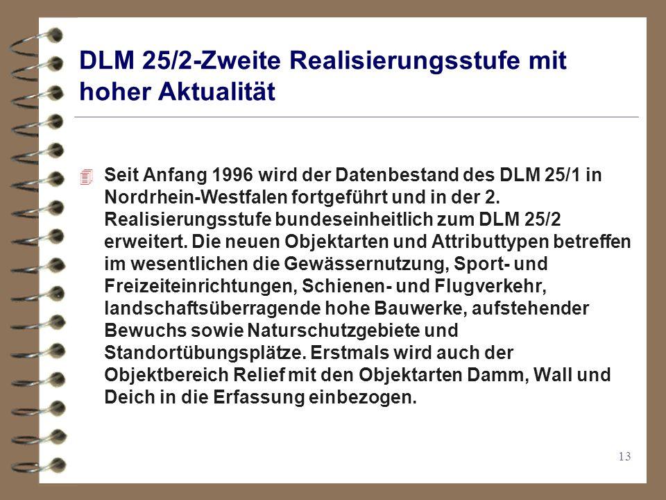 DLM 25/2-Zweite Realisierungsstufe mit hoher Aktualität