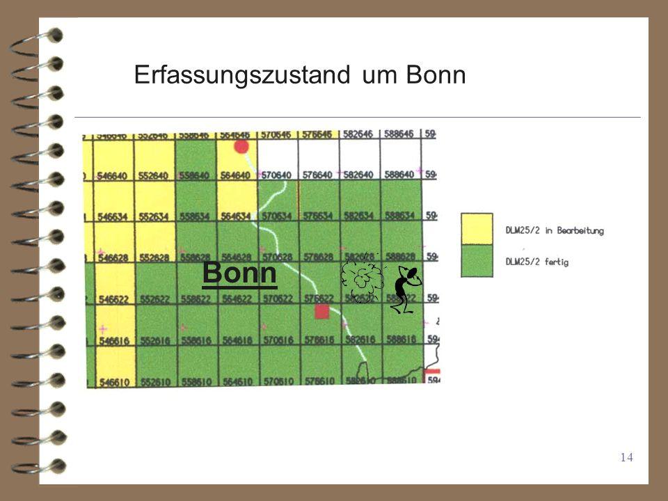 Erfassungszustand um Bonn