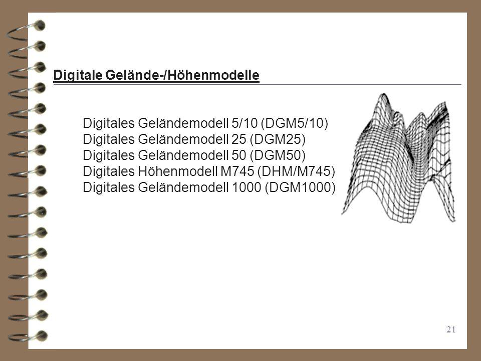 Digitale Gelände-/Höhenmodelle
