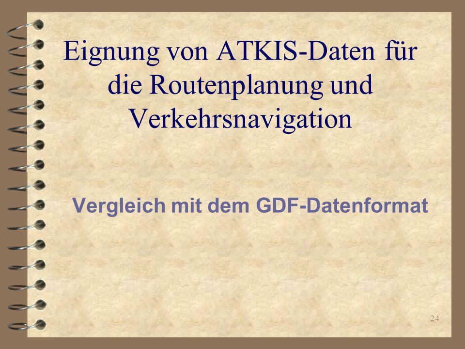 Eignung von ATKIS-Daten für die Routenplanung und Verkehrsnavigation