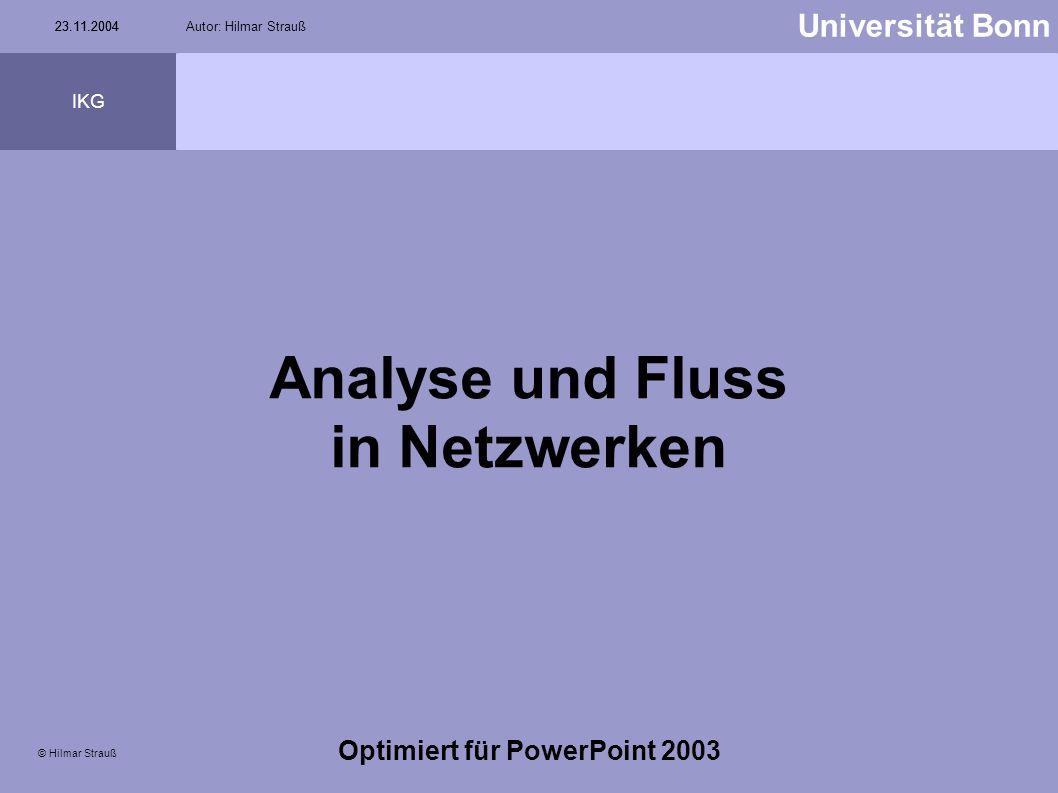 Analyse und Fluss in Netzwerken