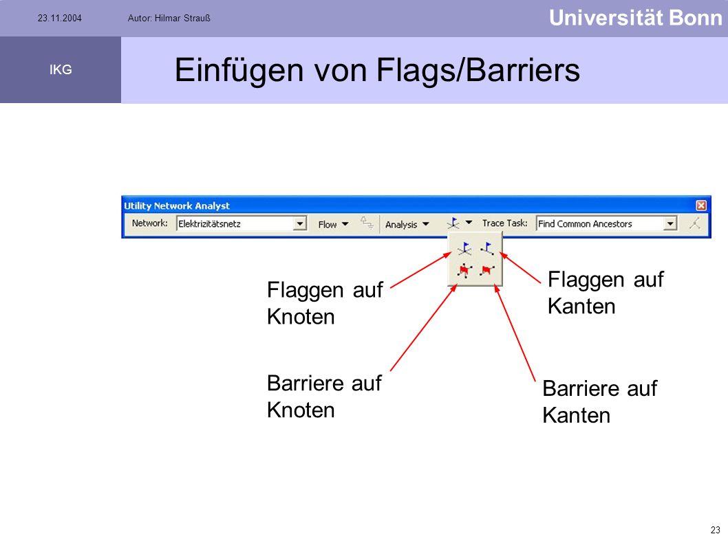 Einfügen von Flags/Barriers
