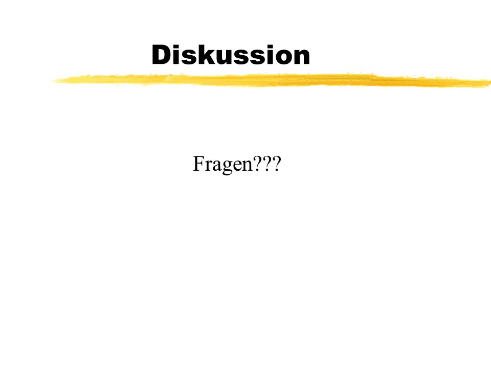 Diskussion Fragen