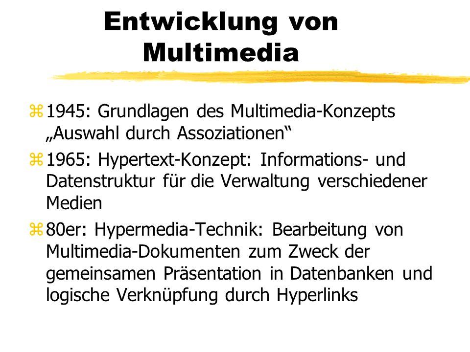 Entwicklung von Multimedia