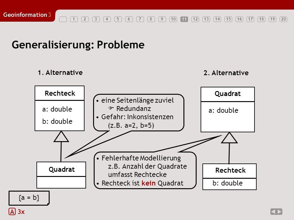 Generalisierung: Probleme