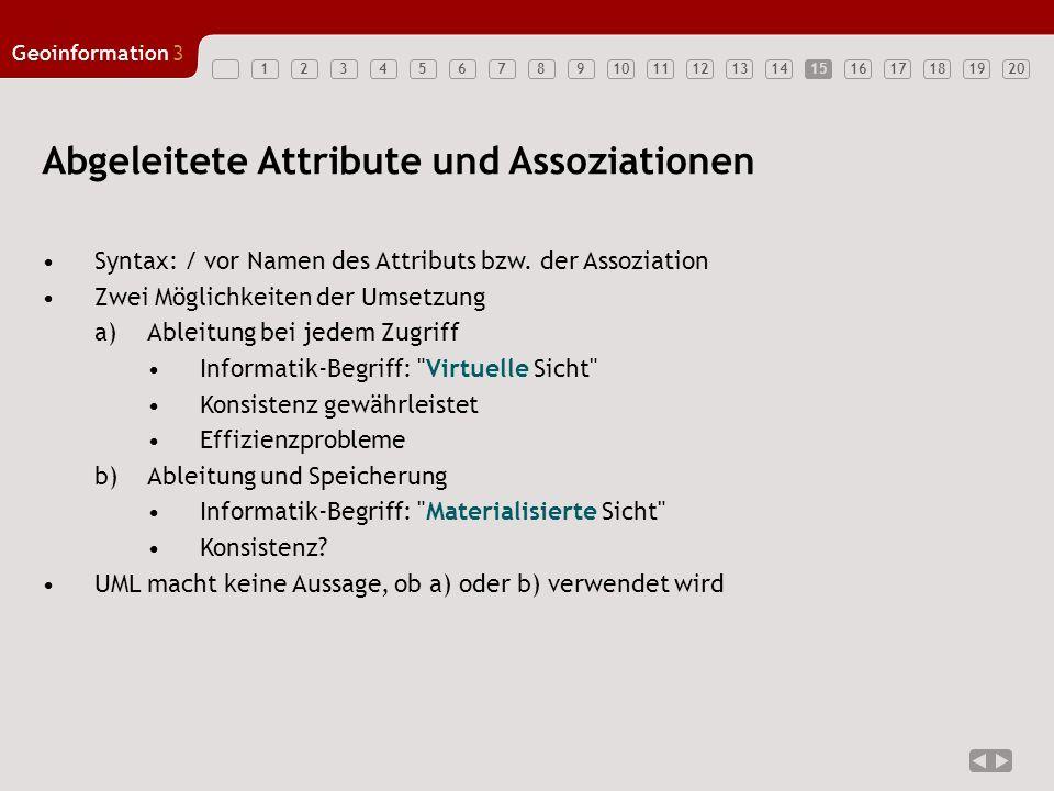 Abgeleitete Attribute und Assoziationen