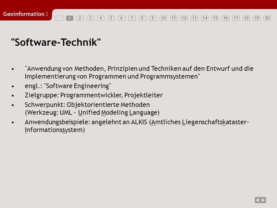 1 Software-Technik Anwendung von Methoden, Prinzipien und Techniken auf den Entwurf und die Implementierung von Programmen und Programmsystemen