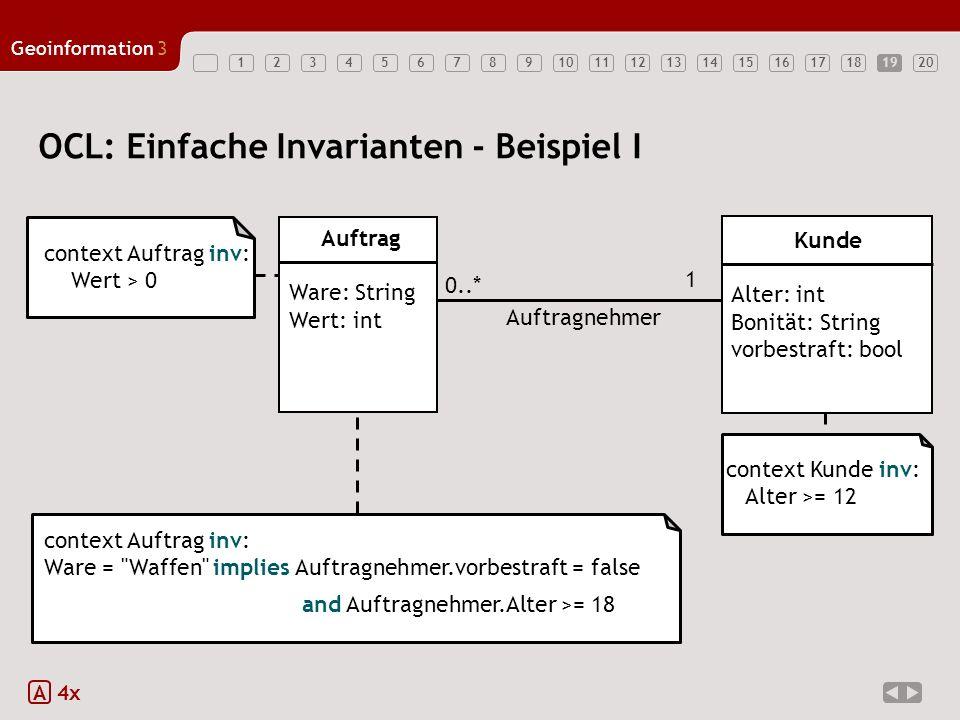 OCL: Einfache Invarianten - Beispiel I