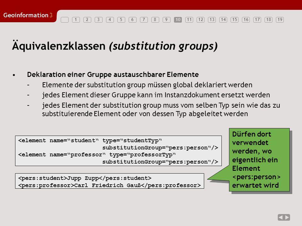 Äquivalenzklassen (substitution groups)