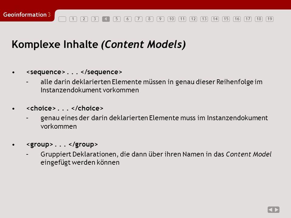 Komplexe Inhalte (Content Models)