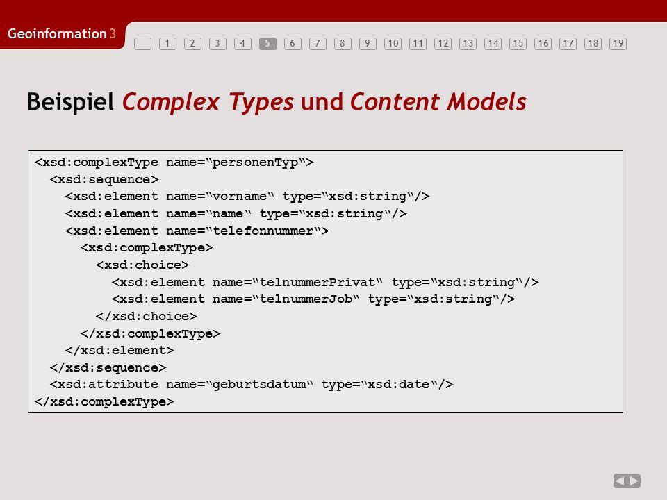 Beispiel Complex Types und Content Models