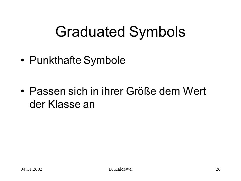 Graduated Symbols Punkthafte Symbole