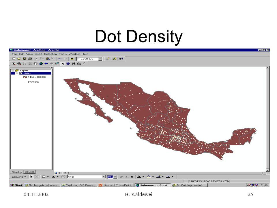 Dot Density 04.11.2002 B. Kaldewei