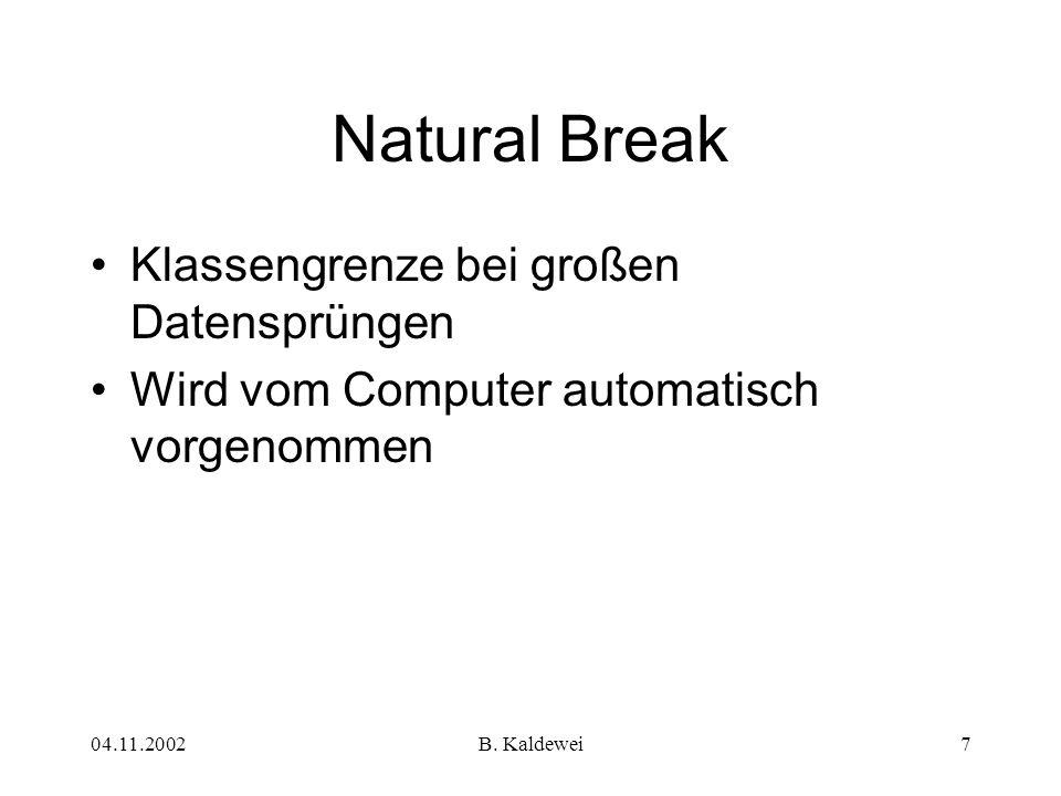 Natural Break Klassengrenze bei großen Datensprüngen