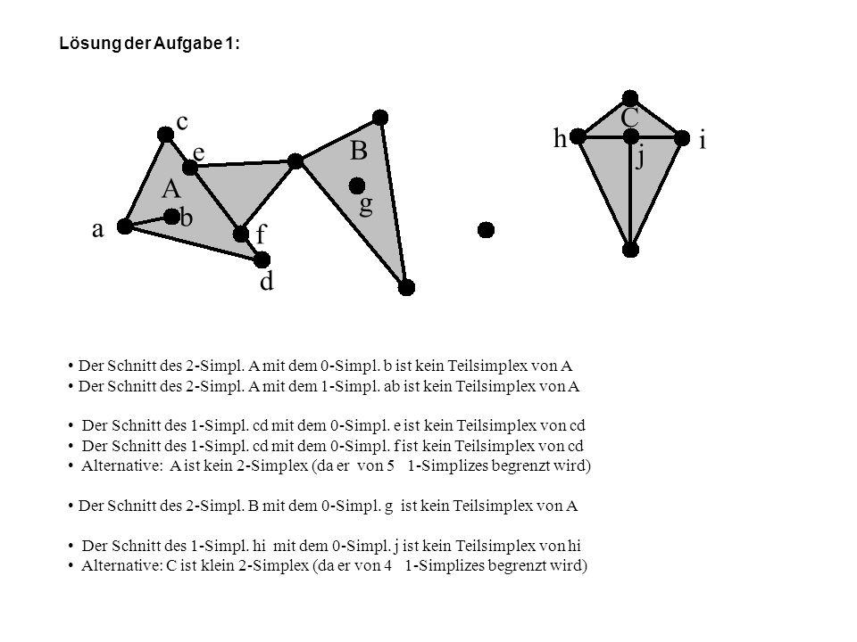 C c h i e B j A g b a f d Lösung der Aufgabe 1: