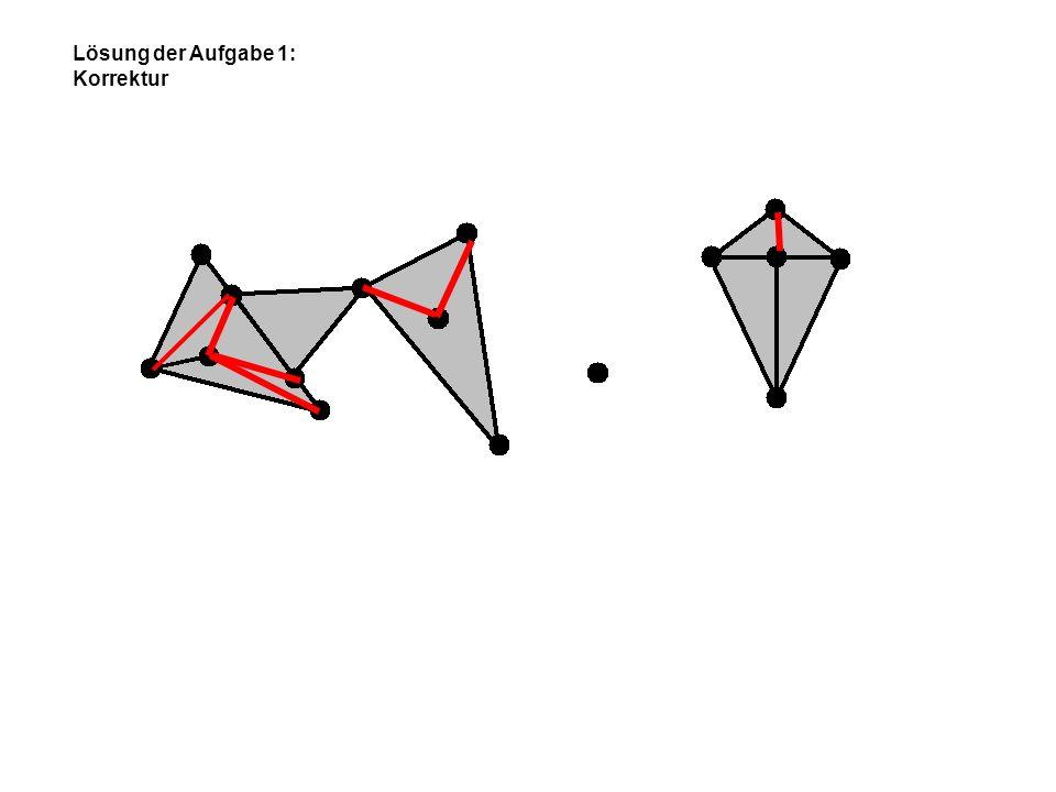 Lösung der Aufgabe 1: Korrektur