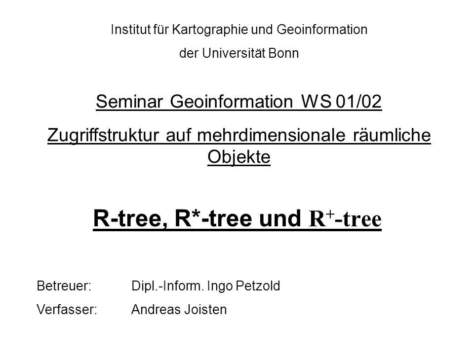 R-tree, R*-tree und R+-tree