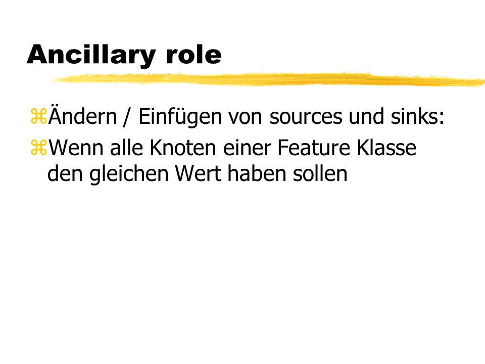 Ancillary role Ändern / Einfügen von sources und sinks: