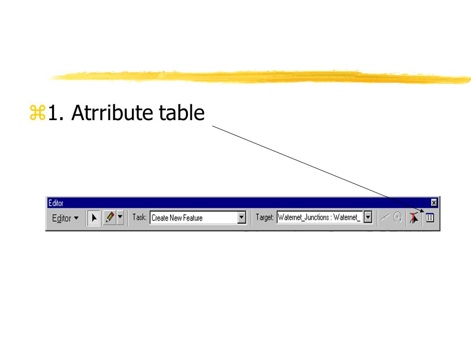 1. Atrribute table