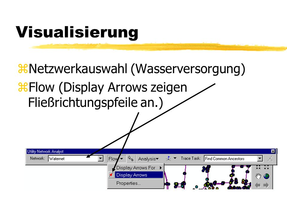 Visualisierung Netzwerkauswahl (Wasserversorgung)