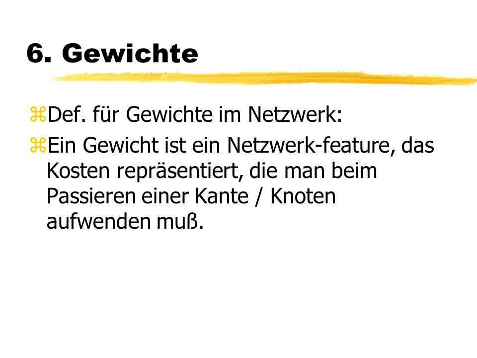 6. Gewichte Def. für Gewichte im Netzwerk: