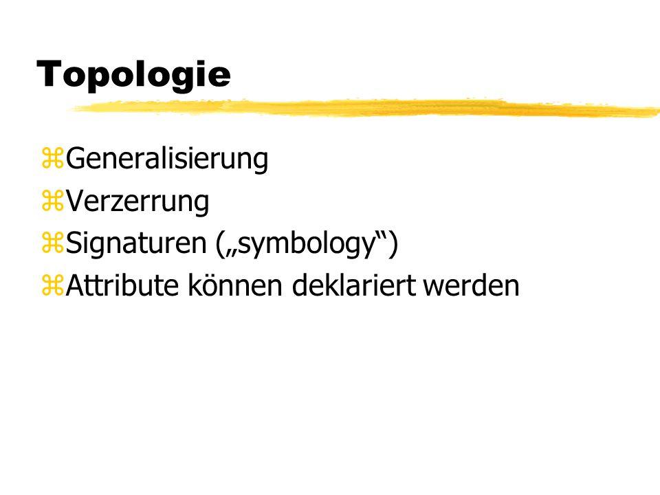 """Topologie Generalisierung Verzerrung Signaturen (""""symbology )"""