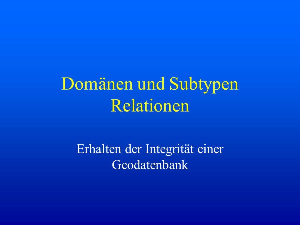 Domänen und Subtypen Relationen
