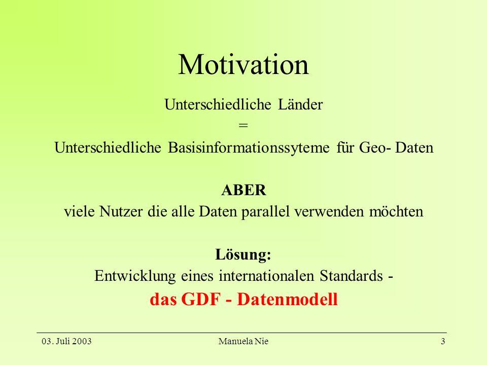 Motivation das GDF - Datenmodell Unterschiedliche Länder =