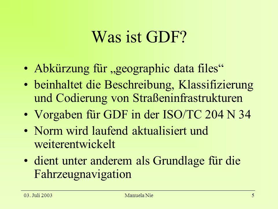 """Was ist GDF Abkürzung für """"geographic data files"""