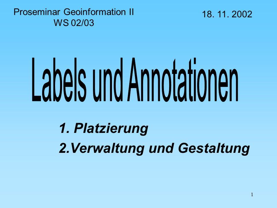 1. Platzierung 2.Verwaltung und Gestaltung