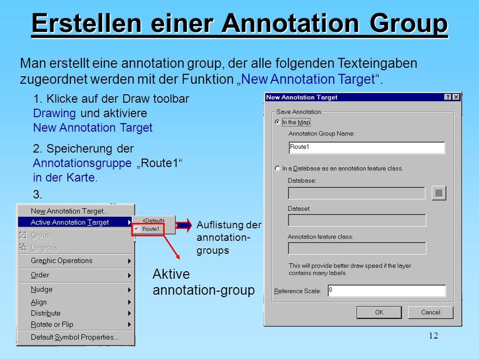 Erstellen einer Annotation Group