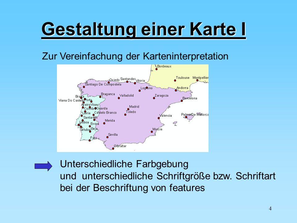 Gestaltung einer Karte I