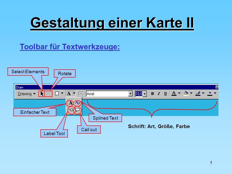 Gestaltung einer Karte II